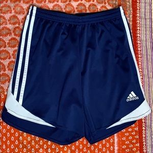 Adidas shorts navy and white S
